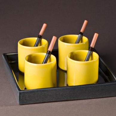 Set plateau carré, tasse & cuillères