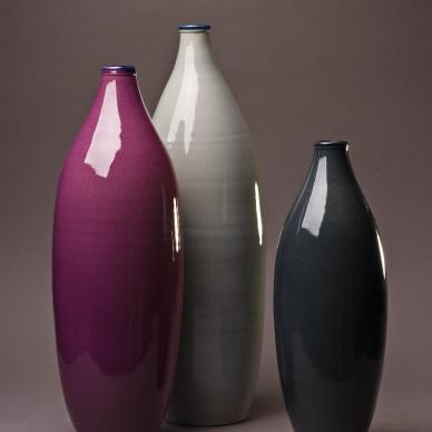 Set of three decorative Bottles.