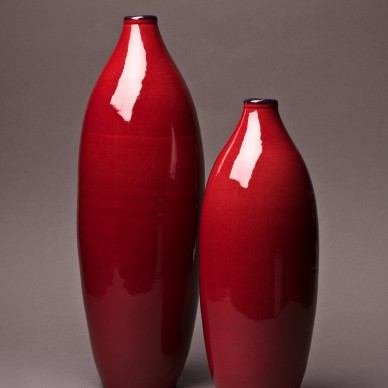 Set of two decorative Bottles.