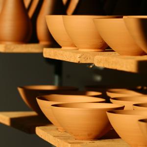 céramique d'Aubagne en cours de fabrication